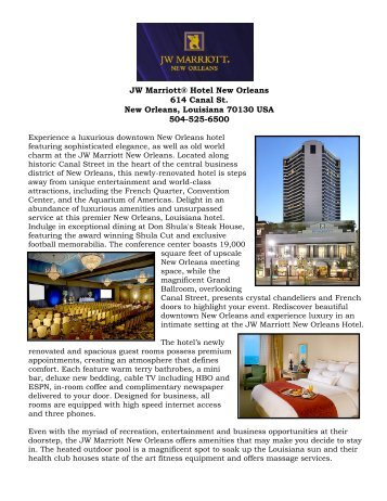 New Orleans Sheraton Hotel Canal Street Southwest Academy Of