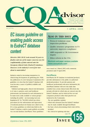 EC issues guideline on enabling public access to ... - Canary Ltd