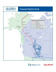 Proposed Pipeline Route - Alaska Pipeline Project