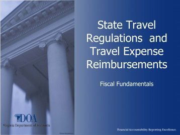 Commonwealth of Virginia Fiscal Fundamentals - State Travel ...