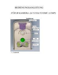BEDIENUNGSANLEITUNG FÃœR IR KAMERA- Ltl 5210A/5210MC ...