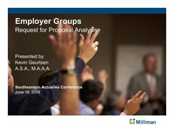 Employer Groups: Health & Welfare Topic - Actuary.com