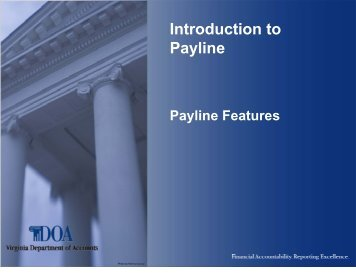 Introduction to Payline - Virginia Department of Accounts