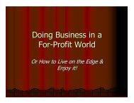 Managing a For Profit Health Company - Actuary.com