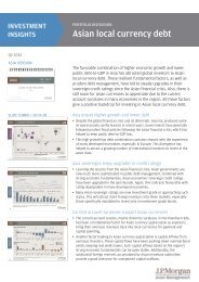Asian Local Currency Debt - JP Morgan Asset Management