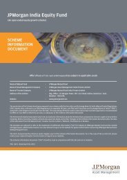 JPMorgan India Equity Fund - JP Morgan Asset Management