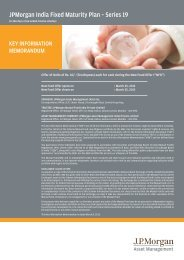 JPMorgan India Fixed Maturity Plan – Series 19 - JP Morgan Asset ...