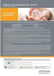 JPMorgan India Fixed Maturity Plan Series 22 - JP Morgan Asset ...