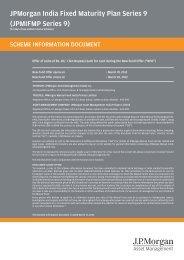 JPMorgan India Fixed Maturity Plan Series 9 - JP Morgan Asset ...