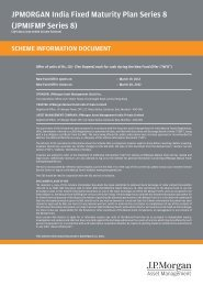 JPMORGAN India Fixed Maturity Plan Series 8 - JP Morgan Asset ...
