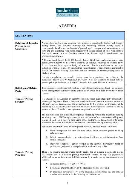 Austria Country Summary - TPA Global