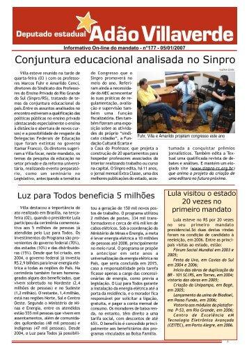Informativo 177 - 05012006.p65 - Deputado Estadual Adão ...