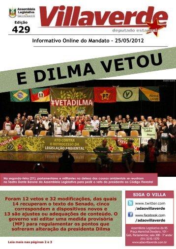 E DILMA VETOU - Adão Villaverde