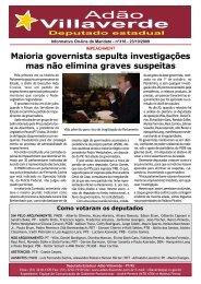 Maioria governista sepulta investigações mas não ... - Adão Villaverde