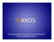 AVOS EPICS Presentation 6-4-10 - Equal Partners in Clinical Supplies