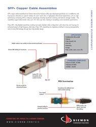 SFP+ Copper Cable Assemblies - Siemon