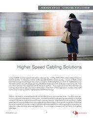 Higher Speed Cabling Solutions - Siemon