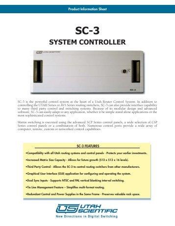 system controller - Utah Scientific