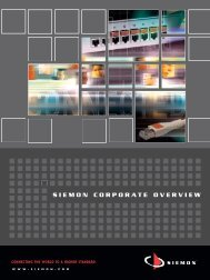Corporate Overview - Siemon
