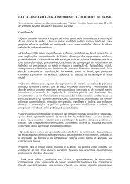 CARTA AOS CANDIDATOS A PRESIDENTE DA ... - CFESS