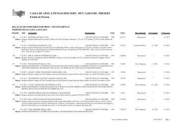 Empenhos Emitidos - Novembro - Preserv