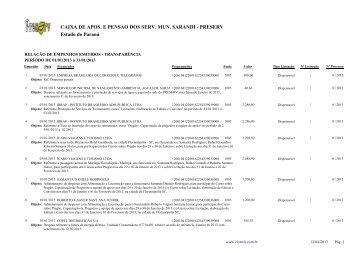 Empenhos Emitidos - Janeiro - PRESERV