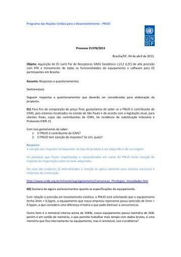 PNUD Processo 21378/2013 Brasília/DF, 04 de abril de 2013 ...