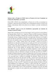 Informe sobre a Posição do CFESS sobre os Projetos de Lei em ...