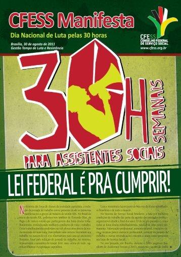 CFESS Manifesta - Dia nacional de luta pelas 30 horas para ...