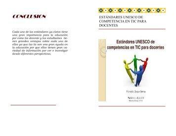 estándares UNESCO de competencias en las tic