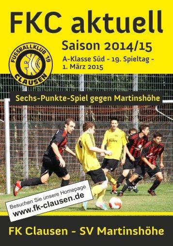 FKC Aktuell - 19. Spieltag - Saison 2014/2015