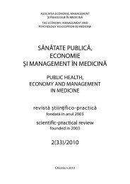 2(31)/2010 - Şcoala de Management în Sănătate Publică