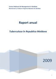Tuberculoza în Republica Moldova. 2008.pdf - Centrul Naţional de ...
