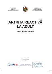 """Protocol clinic naţional: """"Artrita reactivă la adult"""" - Ministerul Sănătăţii"""