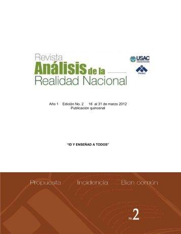 Año 1 Edición No. 2 16 al 31 de marzo 2012 Publicación ... - ipnusac