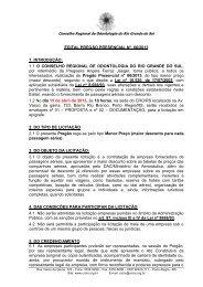 CARTA CONVITE Nº - CRO-RS