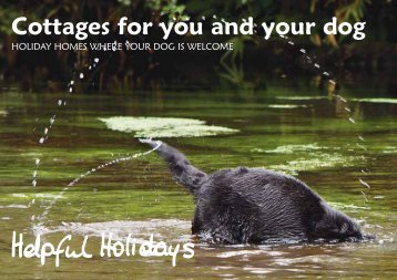 dog friendly mini-brochure - Helpful Holidays