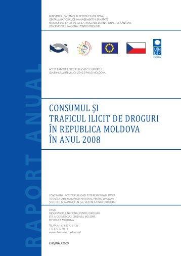 consumul şi traficul ilicit de droguri în republica moldova în anul 2008