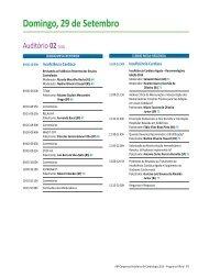 Programação Científica - 29 de setembro 2013 - 66 Congresso ...