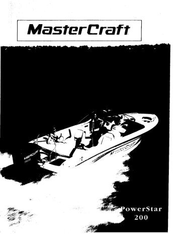 PowerStar 200 Owner's Manual - MasterCraft