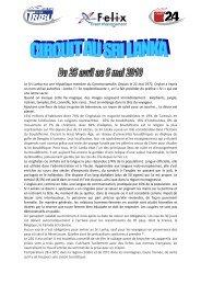 TDG - Programme Sri Lanka - 24 Heures