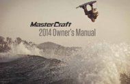 2014 Owner's Manual - MasterCraft