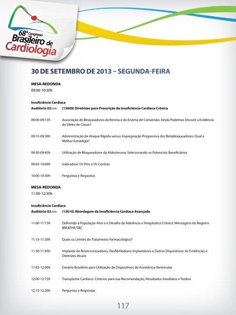 30 de setemBro de 2013 – seGunda-Feira - 66 Congresso Brasileiro ...