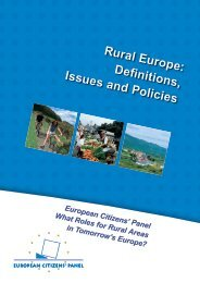 Rural Europe: definitions, issues and policies - European infopack