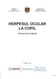 """Protocol clinic naţional """"Herpesul ocular la copil"""" - Ministerul Sănătăţii"""