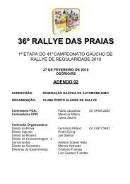 Adendo 02-2010 - Clube Porto Alegre Rallye