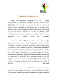 CARTA DE FLORIANÓPOLIS - CFESS