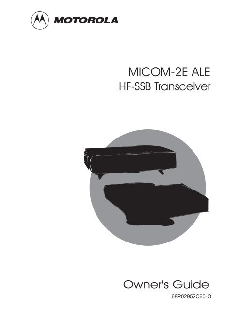 MICOM 2E ALE Owner S Guide The Repeater Builder S