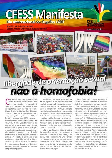 não à homofobia! - CFESS