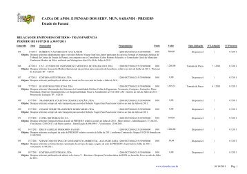 Empenhos Emitidos - Julho - Preserv